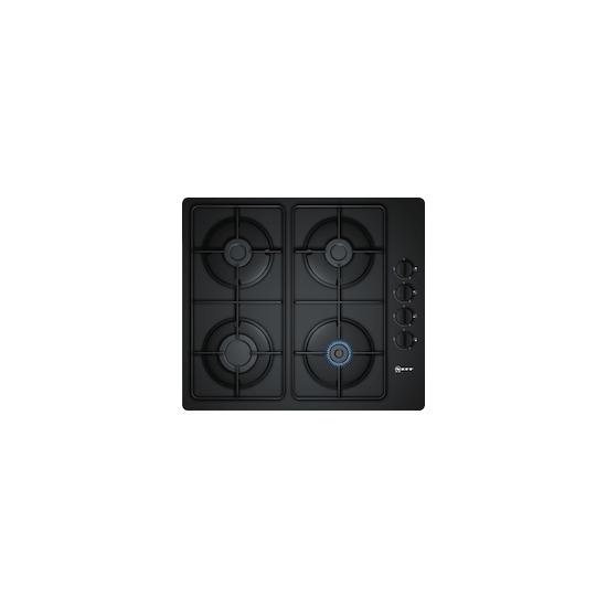 Neff T26CR48S0 Black glass 4 burner gas hob
