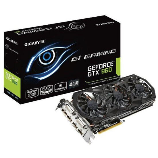 Gigabyte Geforce GTX 960 G1 GAMING 4GB GDDR5 Dual Link DVI HDMI DisplayPort PCI-E Graphics Card