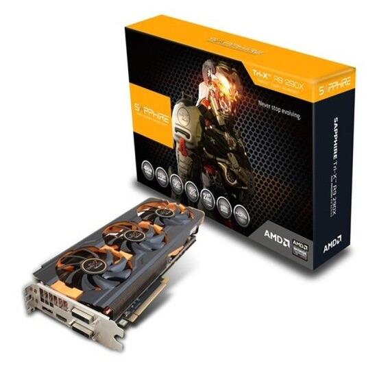 Sapphire R9 290X Tri-X 4GB GDDR5 Dual DVI HDMI DisplayPort PCI-E Graphics Card