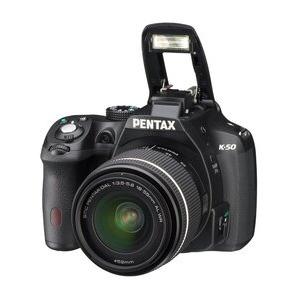 Photo of Pentax K-50 Digital SLR In Black + 18-55MM + 55-300MM WR Lenses Digital Camera