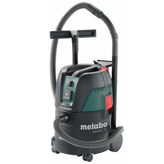 Metabo ASA 25 LP C All Purpose Vacuum Cleaner Manual Filter Cleaning and Auto Sw