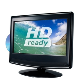 """ESSENTIALS C13DVDB10 13"""" HD Ready LCD TV with Built-in DVD Player - Black"""