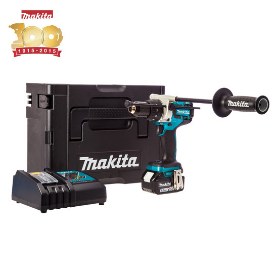Makita DHP481SP1R Metallic Blue Anniversary Combi Drill Cordess 5Ah Battery