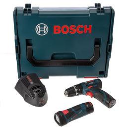 Bosch 0615990G01 10.8V Cordless GSB Drill, GLI Torch, Charger, L-Boxx, 2 x Batts Reviews