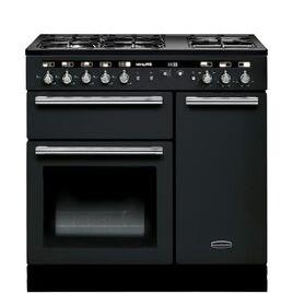 Rangemaster Hi-Lite 90 Dual Fuel Range Cooker - Black & Chrome Reviews