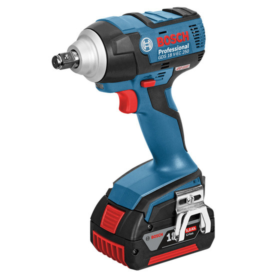Bosch GDS18VEC250 18V Li-ion High Torque Impact Wrench (2 x 5Ah Batteries)