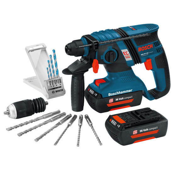 Bosch GBH36VECMD Compact Brushless 36V Li-ion SDS+ Rotary Hammer