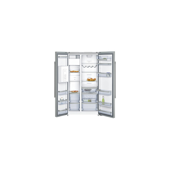 Neff KA3923I20G Stainless steel American Fridge freezer