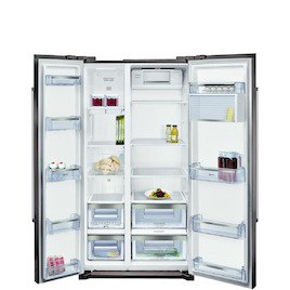 Neff KA7902I20G Stainless steel American Fridge freezer