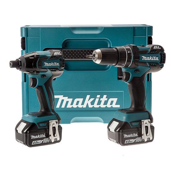 Makita DLX2002MJ 18V LXT Lithium-Ion 2 Piece Cordless Kit (2 x 4Ah Batteries)