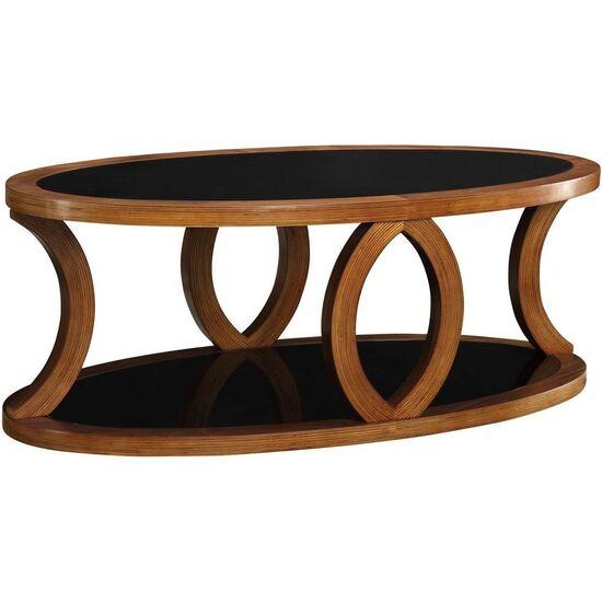 Jual JF102 Curve Walnut Coffee Table