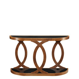 Jual JF104 Curve Walnut Console Table Reviews