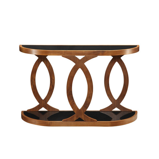 Jual JF104 Curve Walnut Console Table