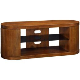 Jual JF207 WB Curve Walnut and Black Glass TV Cabinet Reviews