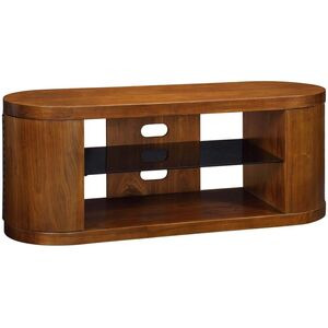Photo of Jual JF207 WB Curve Walnut and Black Glass TV Cabinet TV Stands and Mount