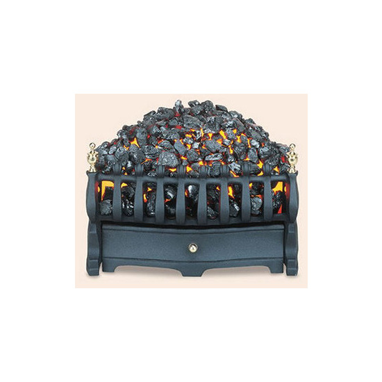 Burley Halstead Electric Fire in Black