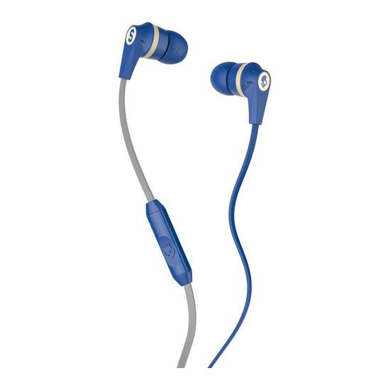 Skull Candy Ink'd 2.0 Headphones - Royal Blue Cream & Gold