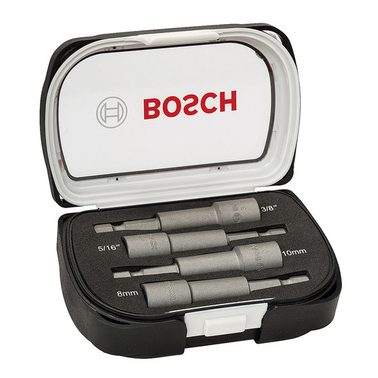 Bosch 2608551087 Nutsetter Set Metric and Imperial Magnetic 4 Pieces