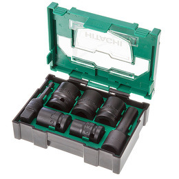 Hitachi 400.300.25 Stackable Accessory Impact Socket Set 4 (7 Pieces) Box Size 2 Reviews