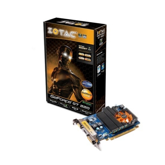 ZOTAC NVIDIA GeForce GT 220 PCI-E Synergy Edition Graphics Card - 1GB