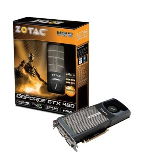 ZOTAC NVIDIA GeForce GTX 480 PCI-E Graphics Card - 1536 MB