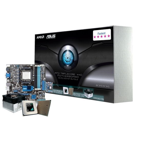 ASUS ''/ AMD M4A88T-M 880G/SB710 microATX Motherboard - with AMD Athlon II X3 440 Processor
