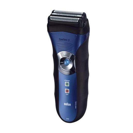 Braun Series 3 340 Electric Wet & Dry Shaver - Blue