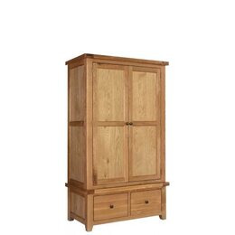 Rustic Grange Devon Oak Gents Wardrobe