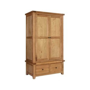 Photo of Rustic Grange Devon Oak Gents Wardrobe Furniture