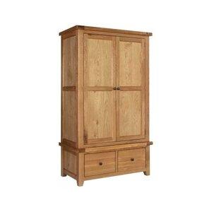 Photo of Rustic Grange Devon Oak Gents Wardrobe Furniture