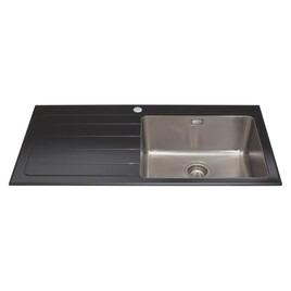 CDA KVL01LBL Glass Sink Single Bowl Left Hand Drainer 600mm Reviews