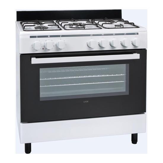 LOGIK LFTG90W14 Dual Fuel Range Cooker