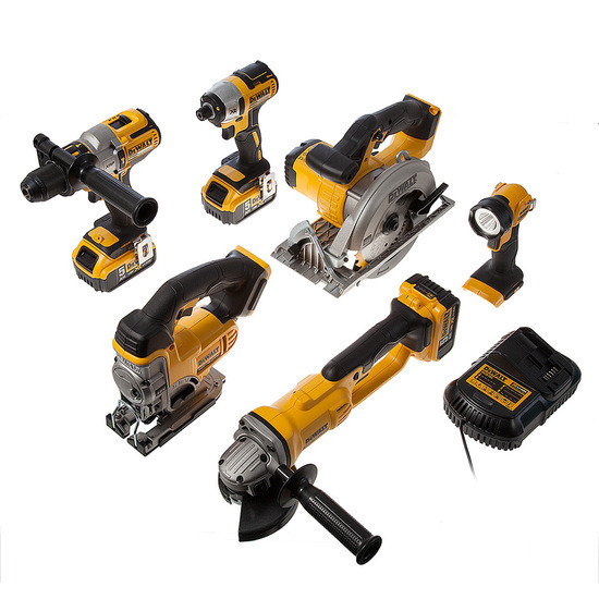Dewalt DCK694P3 18V Brushless 6 Piece Kit with 3 x 5.0Ah batteries,Charger,Boxes