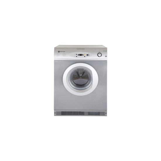 White Knight C86A7S 7kg Digital Sensing Air Vented Tumble Dryer Silver