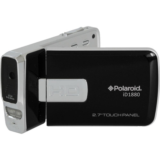Polaroid iD1880 Traditional Camcorder - Black