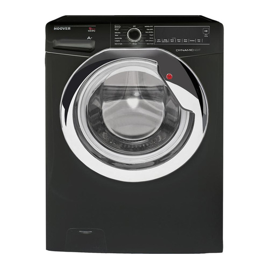 Hoover DXA59BC3 Washing Machine - Black & Chrome