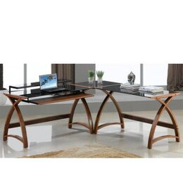 Jual Curve - Curved Walnut and Black Desk Reviews