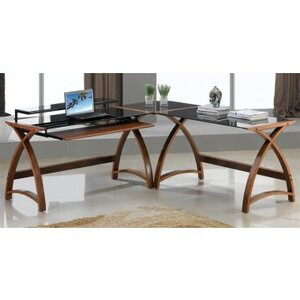 Photo of Jual Curve - Curved Walnut and Black Desk Furniture