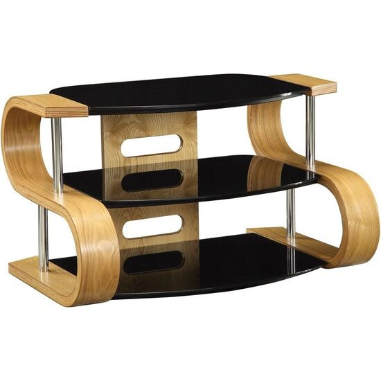 Jual JF203 WB 850 Curve Wood / Wooden LCD TV Stand Walnut