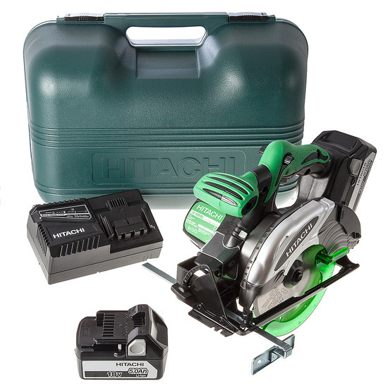 Hitachi C18DSL/JJ 18V li-ion Cordless Circular Saw (2 x 5Ah Battery)