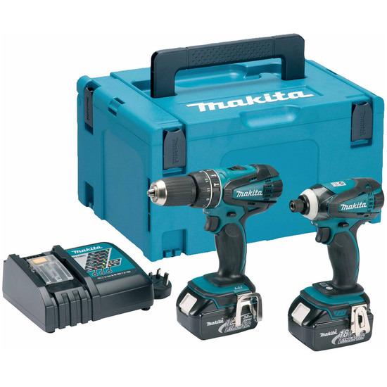 Makita DLX2012MJ 18V Li-ion 2 Piece Cordless Kit (2 x 4Ah Batteries) - MakPac