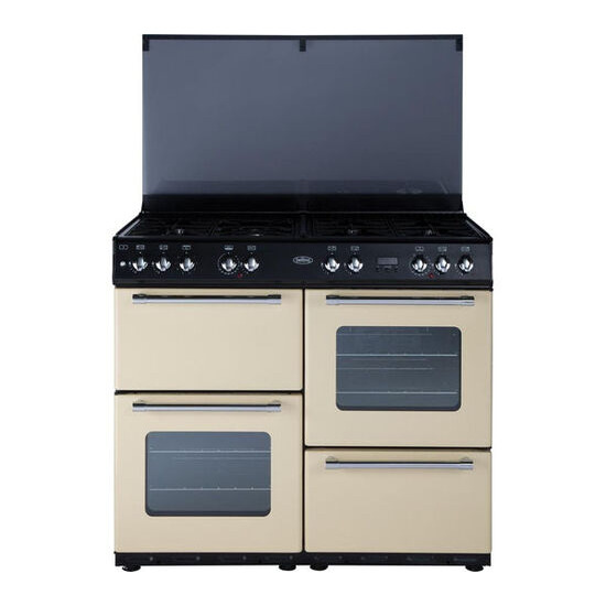 Country 100 Dual Fuel Range Cooker Cream
