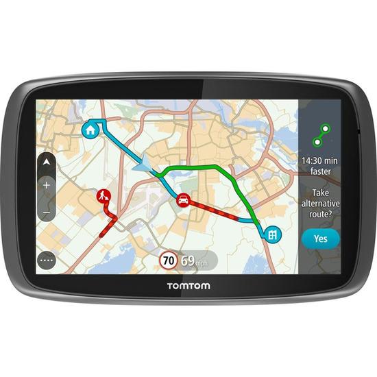 GO Traffic 6100 6 Sat Nav - with Worldwide Maps