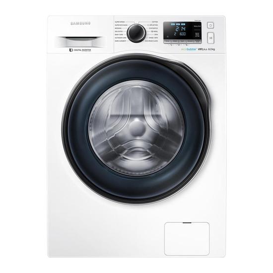 Samsung ecobubble WW80J6610CW Washing Machine - White