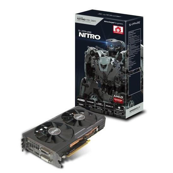 Sapphire R9 380 Nitro DUAL-X OC 4GB GDDR5 DVI-I DVI-D HDMI DisplayPort PCI-E Graphics Card