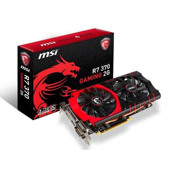 MSI Radeon R7 370 Gaming 2GB GDDR5 Dual-link DVI-D DVI-I HDMI DisplayPort PCI-E Graphics Card