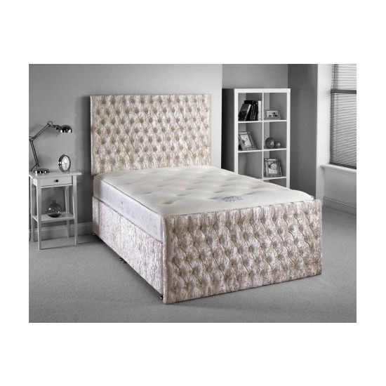 Luxan Provincial Bed Set - Silver - Double 4ft6 - 2 Drawers