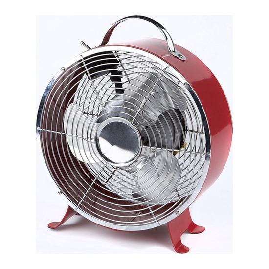 9 Clock Fan - Red
