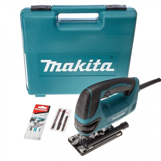 Makita 4350FCTX1 Orbital Action Jigsaw with Tool-less Blade Fixing + Blades 240V