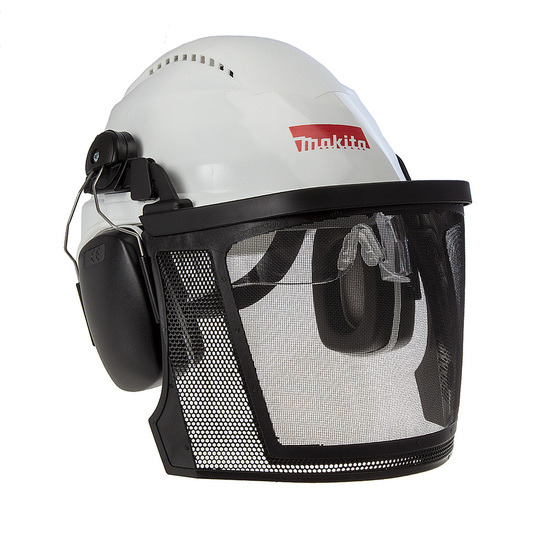 Makita P-54140 Safety Helmet with Visor Glasses and Ear Defenders